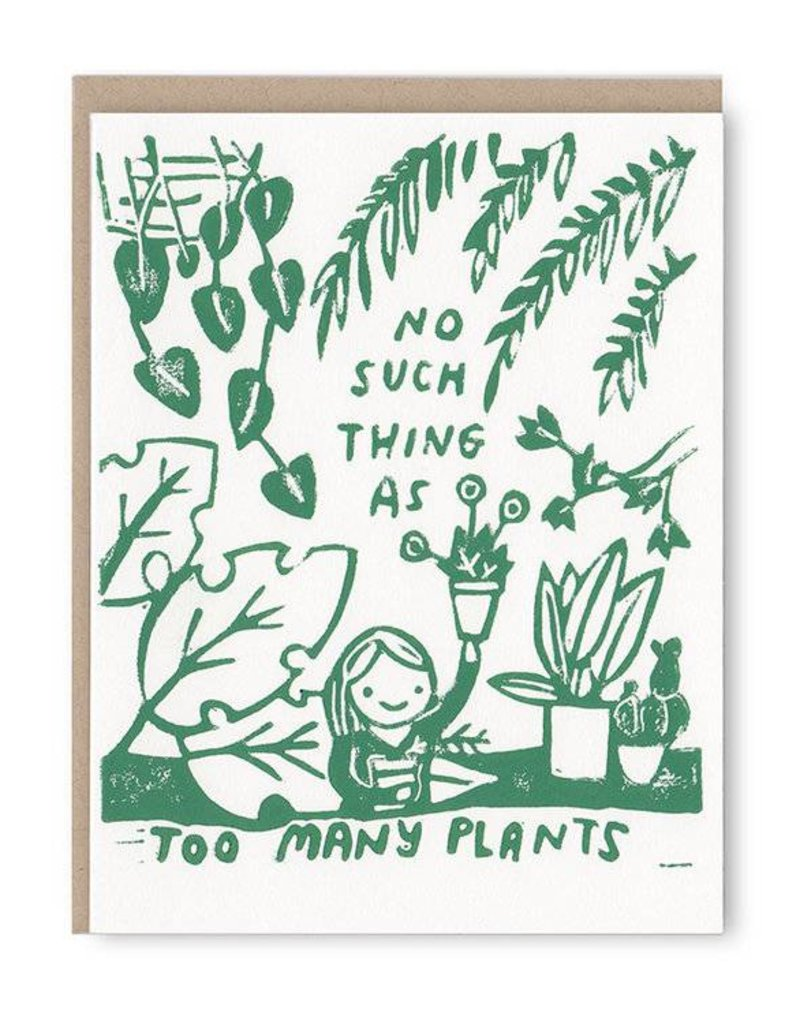 Ghost Academy No Such Thing As Too Many Plants Greeting Card