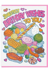 Sweetest Birthday Wishes Candy Greeting Card
