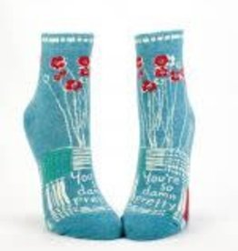Blue Q You're So Damn Pretty Women's Ankle Socks