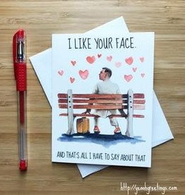 YeaOh Greetings Forrest Gump Love Greeting Card
