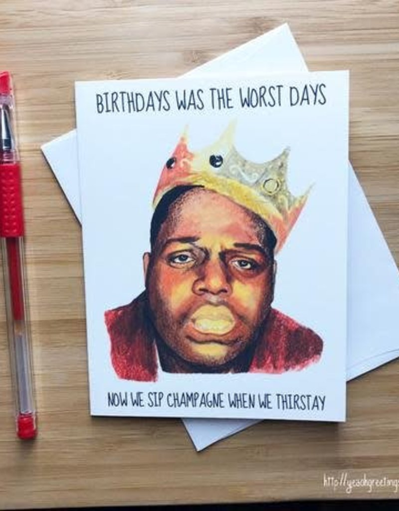 YeaOh Greetings Biggie Birthday Greeting Card