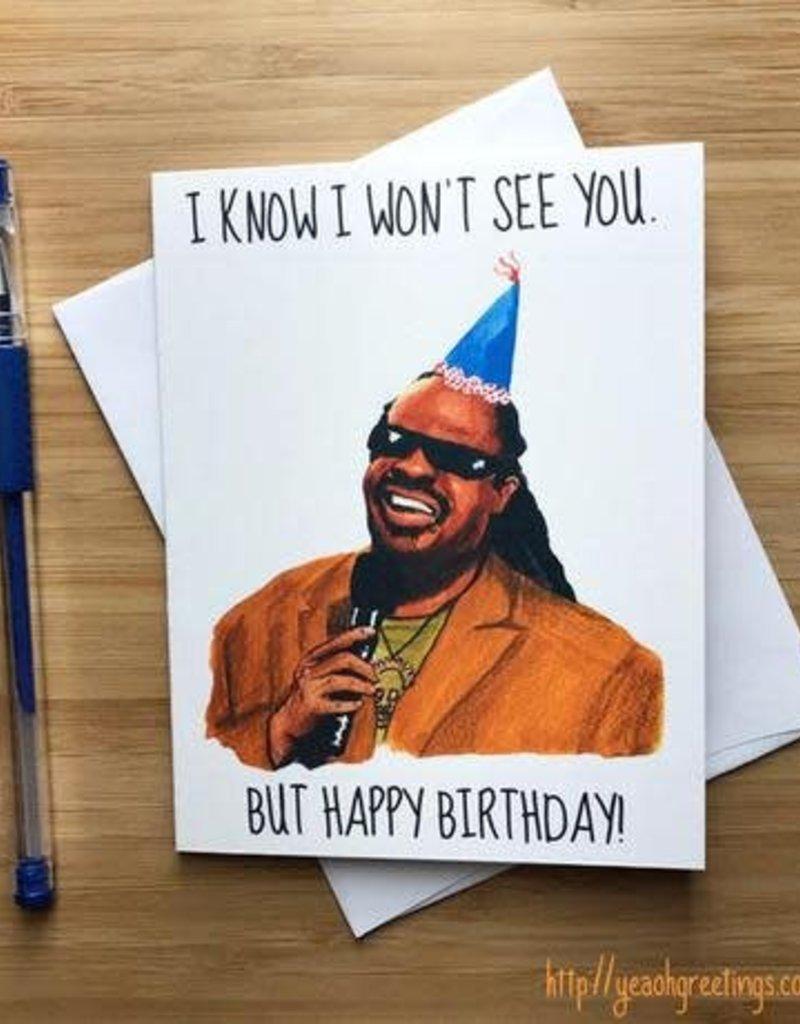 Stevie Wonder Birthday Greeting Card