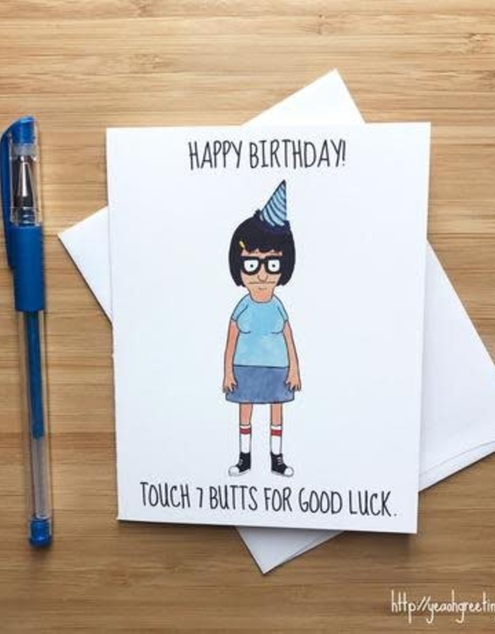 YeaOh Greetings Touch 7 Butts Birthday (Bob's Burgers) Greeting Card