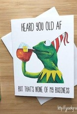 YeaOh Greetings Kermit Birthday (Muppets) Greeting Card