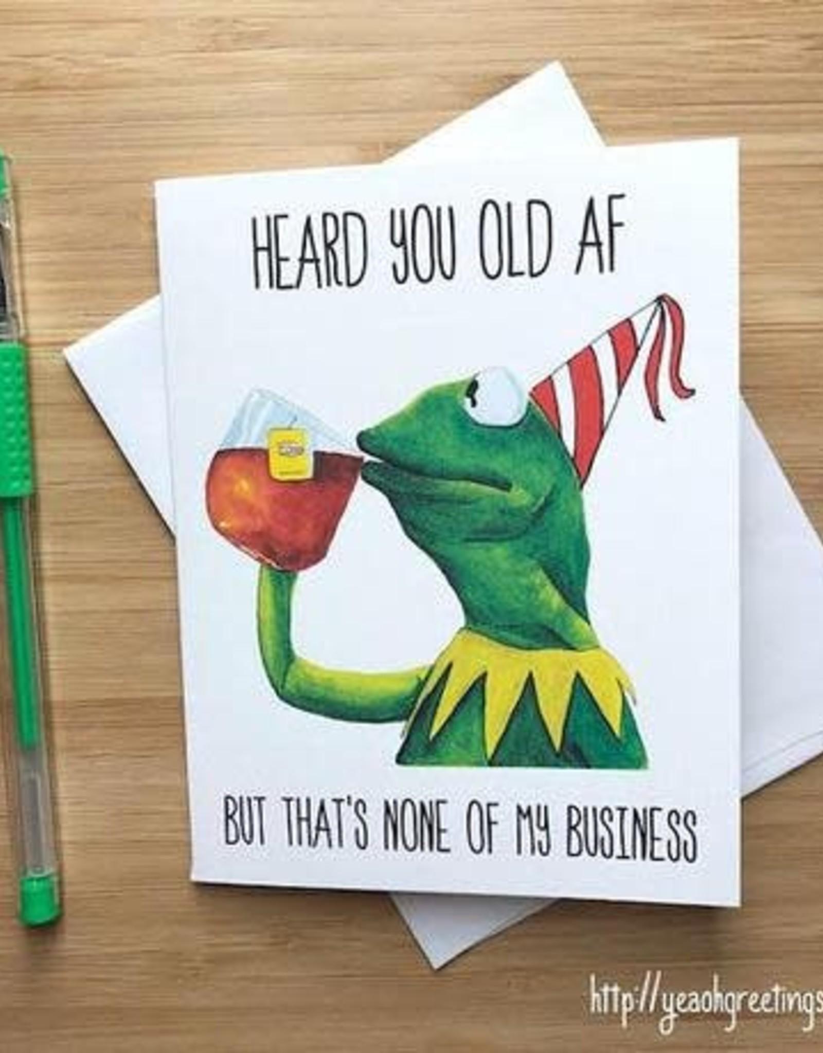 Kermit Birthday (Muppets) Greeting Card