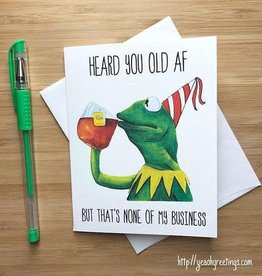 YeaOh Greetings Kermit Birthday (Muppets) Greeting Card