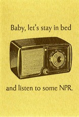 Lady Pilot Letterpress Lets Listen to Some NPR Greeting Card