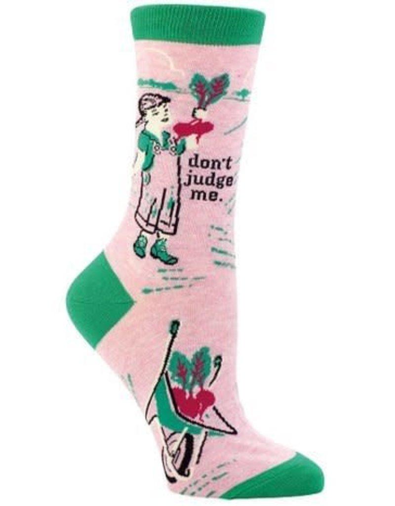 Blue Q Don't Judge Me Women's Crew Socks