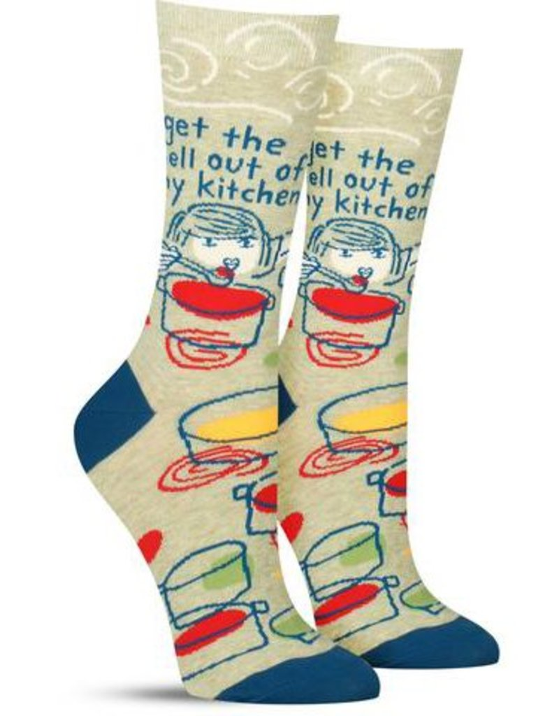 Blue Q Get The Hell Out Of My Kitchen Women's Crew Socks