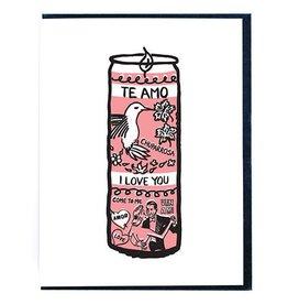 Smitten Kitten Te Amo Prayer Candle Greeting Card
