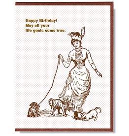 Smitten Kitten Happy Birthday! Cat Goals Greeting Card