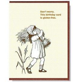Smitten Kitten Don't Worry, This Birthday Card is Gluten-Free Greeting Card