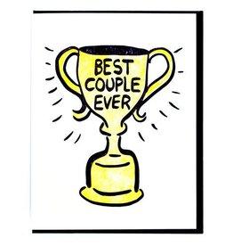 Smitten Kitten Best Couple Ever Trophy Greeting Card