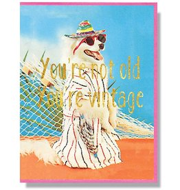 Smitten Kitten You're Not Old, You're Vintage Greeting Card
