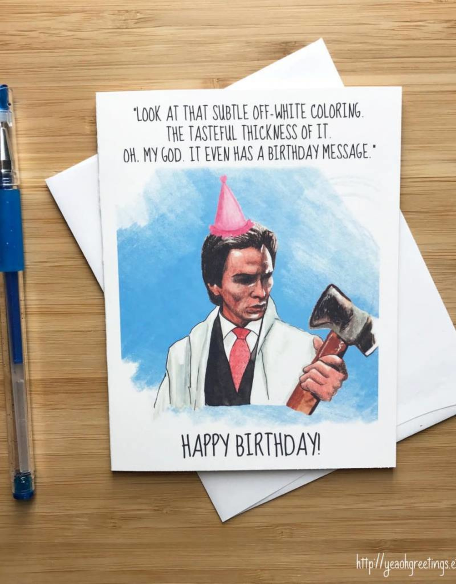 Amercan Psycho Birthday Greeting Card