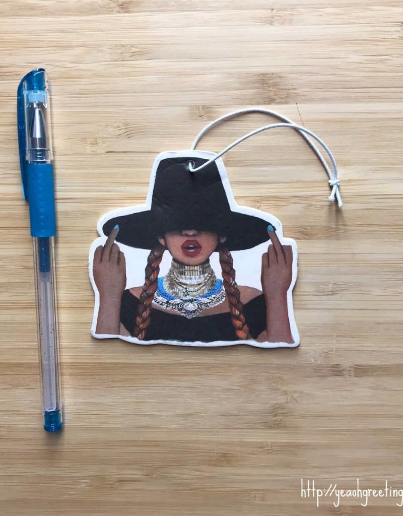 YeaOh Greetings Beyonce Air Freshener