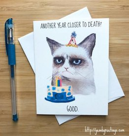 Grumpy Cat Birthday Greeting Card