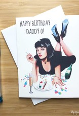YeaOh Greetings Happy Birthday Daddy-O Pulp Fiction Greeting Card