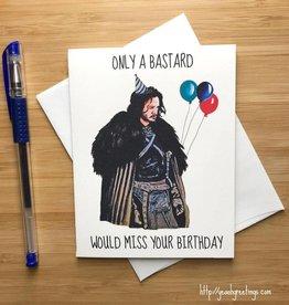 YeaOh Greetings Jon Snow Birthday Greeting Card