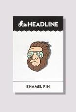 Headline Hipster Bigfoot Pin
