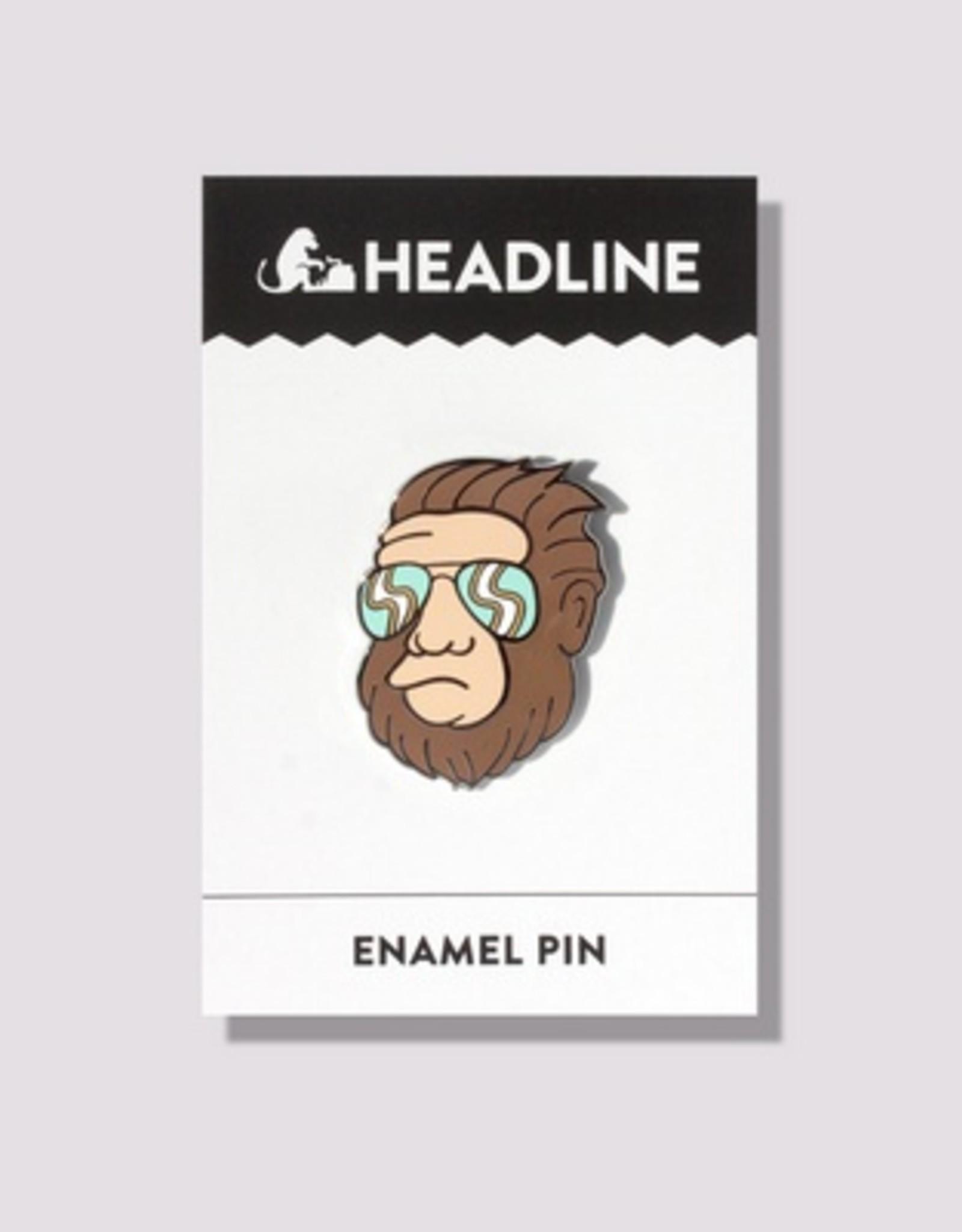 Hipster Bigfoot Enamel Pin