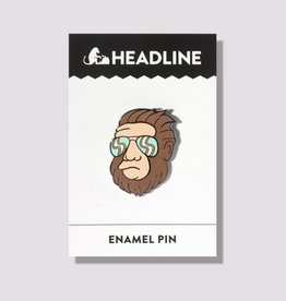 Headline Hipster Bigfoot Enamel Pin