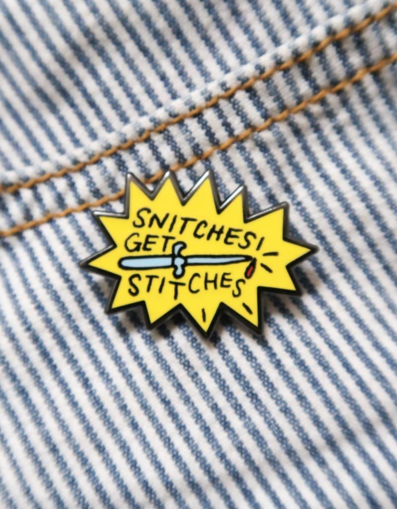 Towne 9 Snitches Get Stitches Enamel Pin