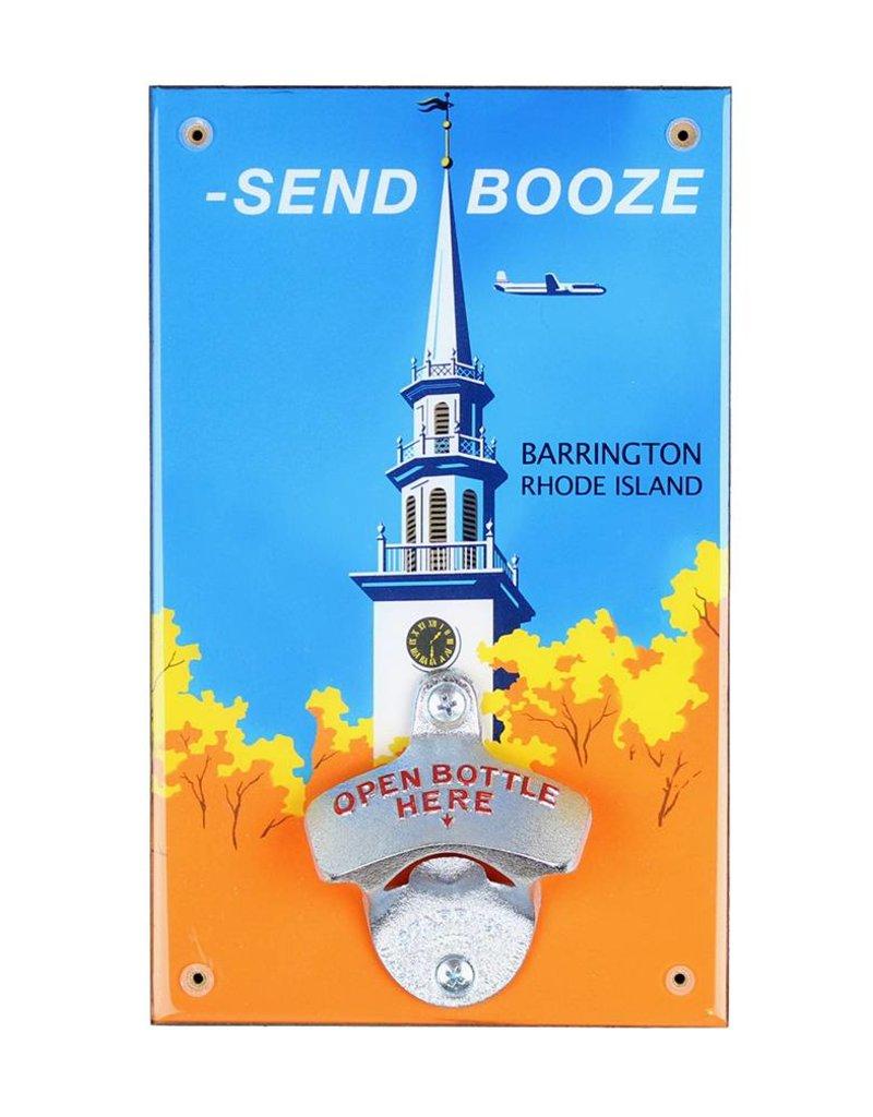 "Frog & Toad Design Send Booze"" Barrington, RI Bottle Opener"