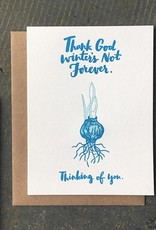 Thank God Winter's Not Forever Greeting Card Boxed Set of 6