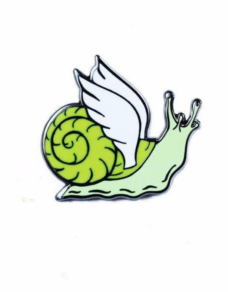 Shiny Apple Studio Winged Snail Enamel Pin