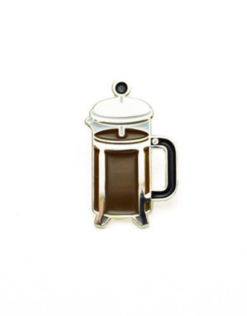 Lucky Horse Press Coffee French Press Enamel Pin
