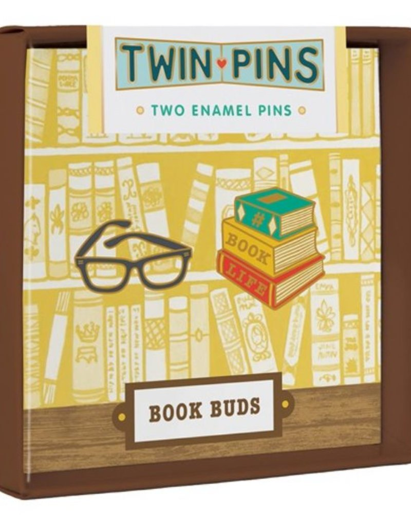 Chronicle Books Book Buds Twin Pins
