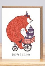Huckleberry Letterpress Birthday Bear Greeting Card