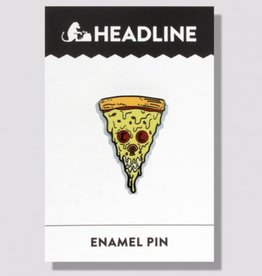 Headline Pizza Skull Enamel Pin