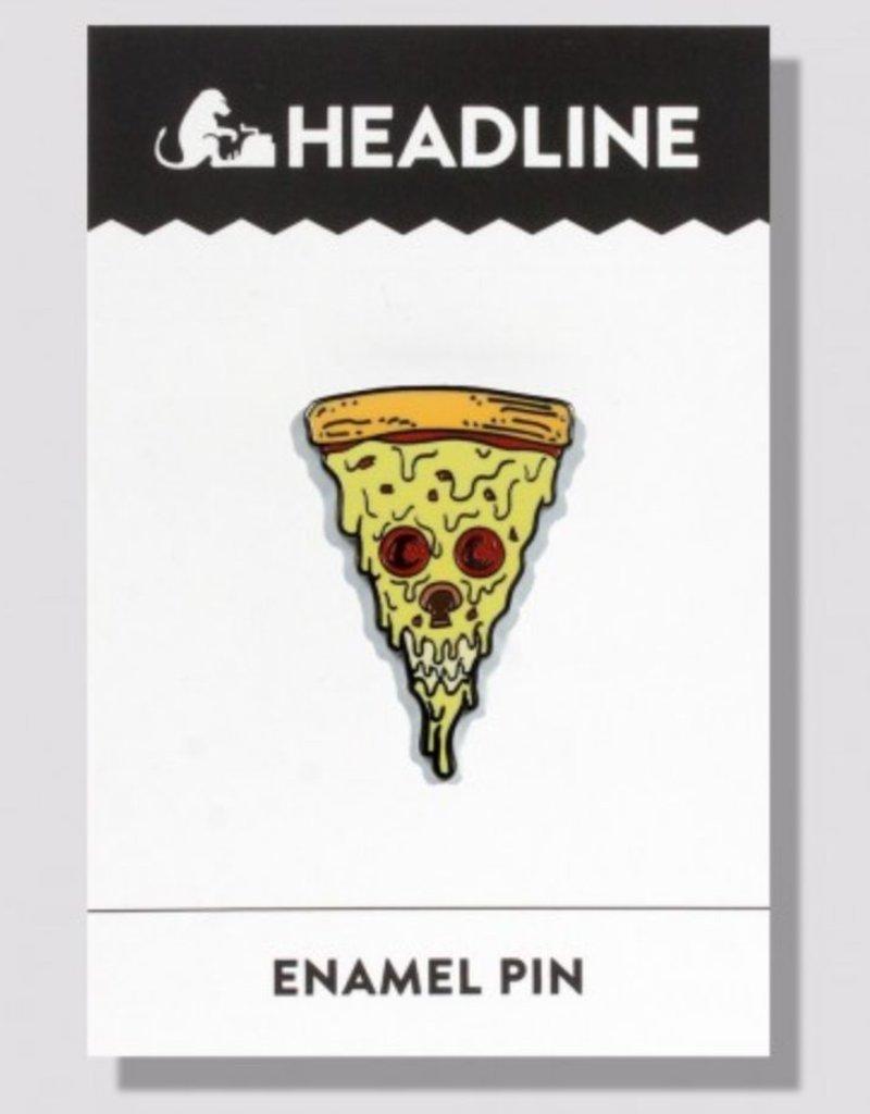 Headline Pizza Skull Enamel Pin