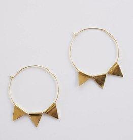 Mata Traders Abaco Hoop Earrings - Gold