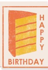 Heartell Press, LLC Happy Birthday Yellow Cake Greeting Card