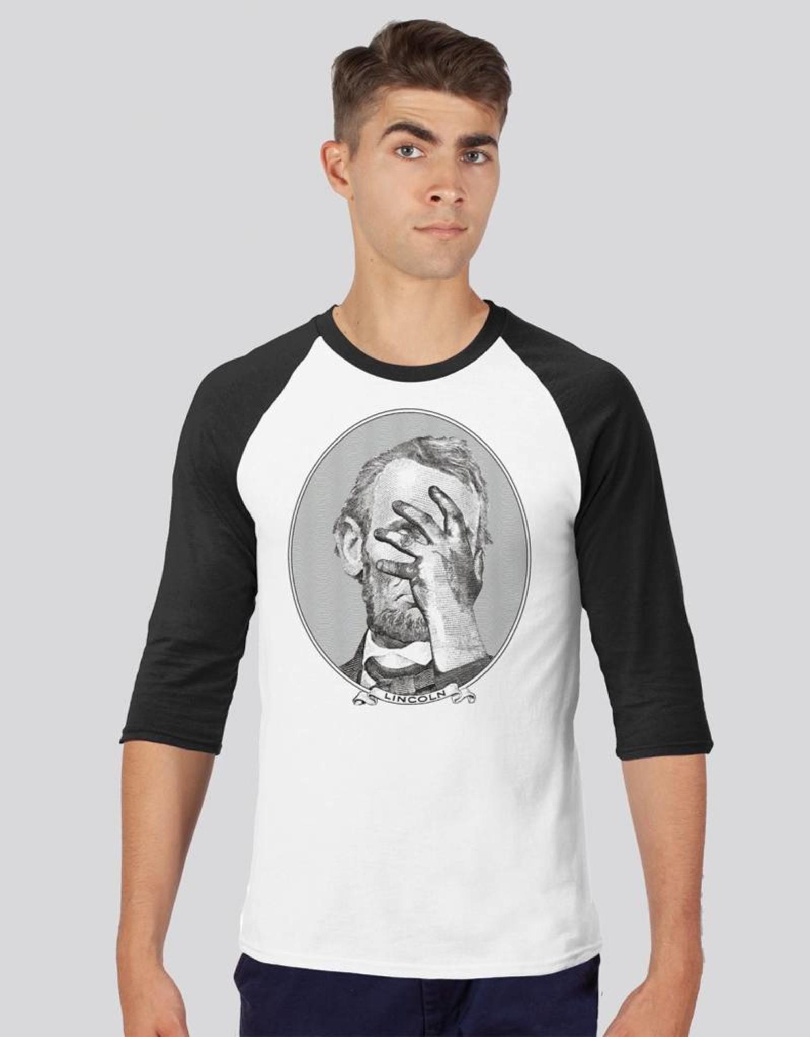 Lincoln Face Palm Raglan T-Shirt