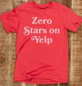 Headline Zero Stars On Yelp T-Shirt