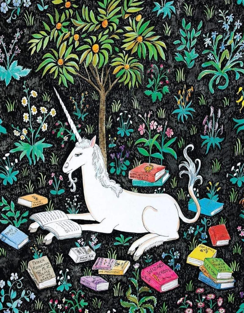 Galison Unicorn Reading 500pc Puzzle