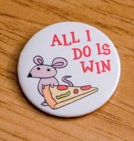 Youth Collaborative All I Do Is Win Pizza Rat Button