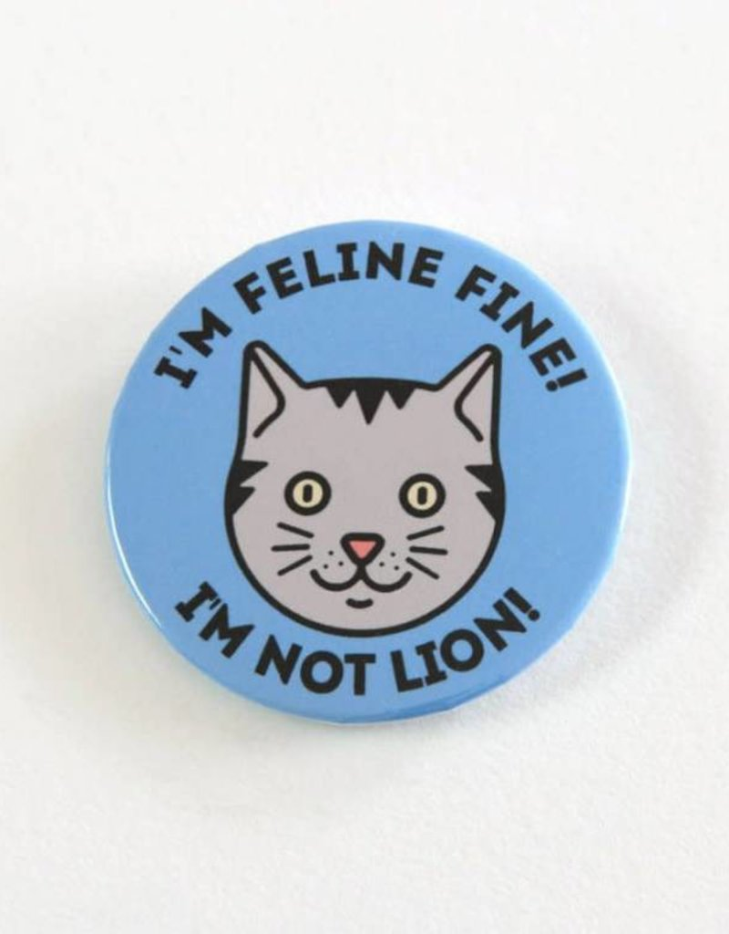 Youth Collaborative I'm Feline Fine, I'm not Lion! Button