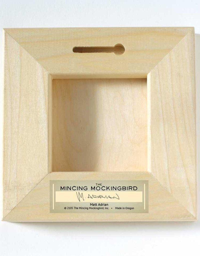 Mincing Mockingbird Wings on Wood - Cardinal Pair