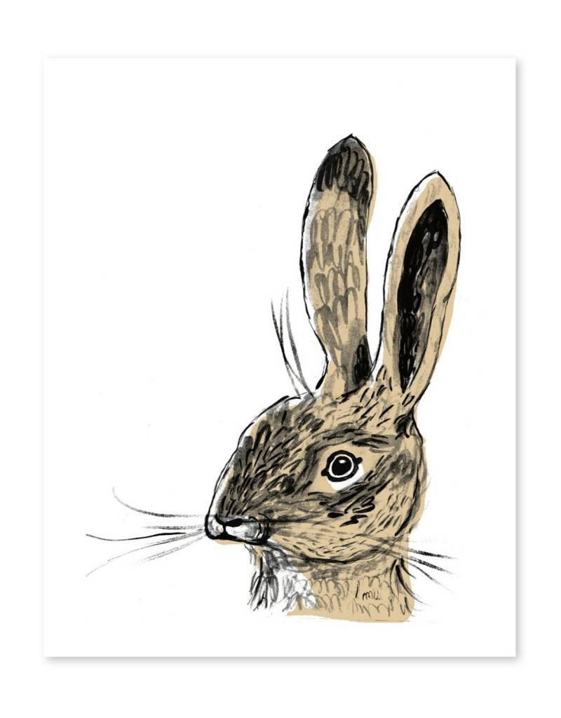 Apartment on Belmont Brown Rabbit Print (Leonard)