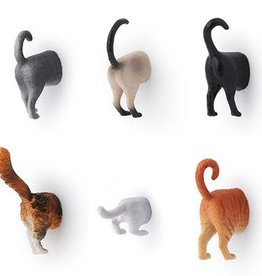 Kikkerland Cat Butt Magnets - Set of 6