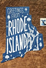 Noteworthy Paper & Press Rhode Island Die Cut Postcard