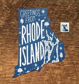 Rhode Island Die Cut Postcard