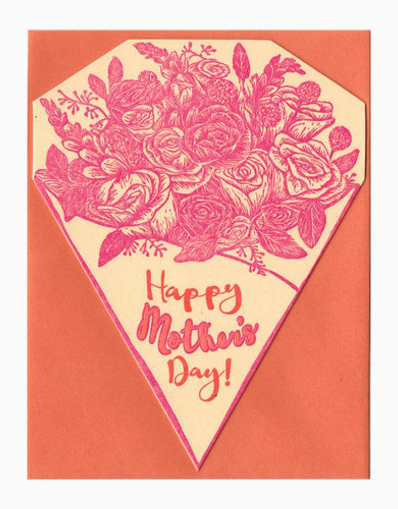 Blackbird Letterpress Happy Mother's Day Bouquet Greeting Card