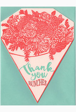 Thank You Bunches Bouquet Greeting Card