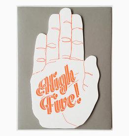 Blackbird Letterpress High Five Hand Greeting Card